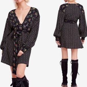 Free People Wonderland Floral Button Front Dress